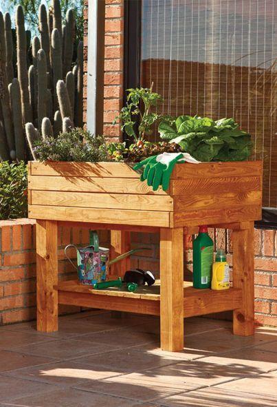 Mesa de cultivo de madera Germin