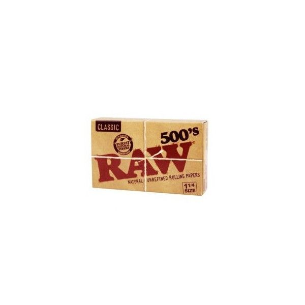 Papel Raw 1 1/4 500 unidades