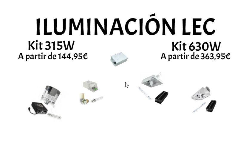 Iluminación LEC Huerto Urbano Grow
