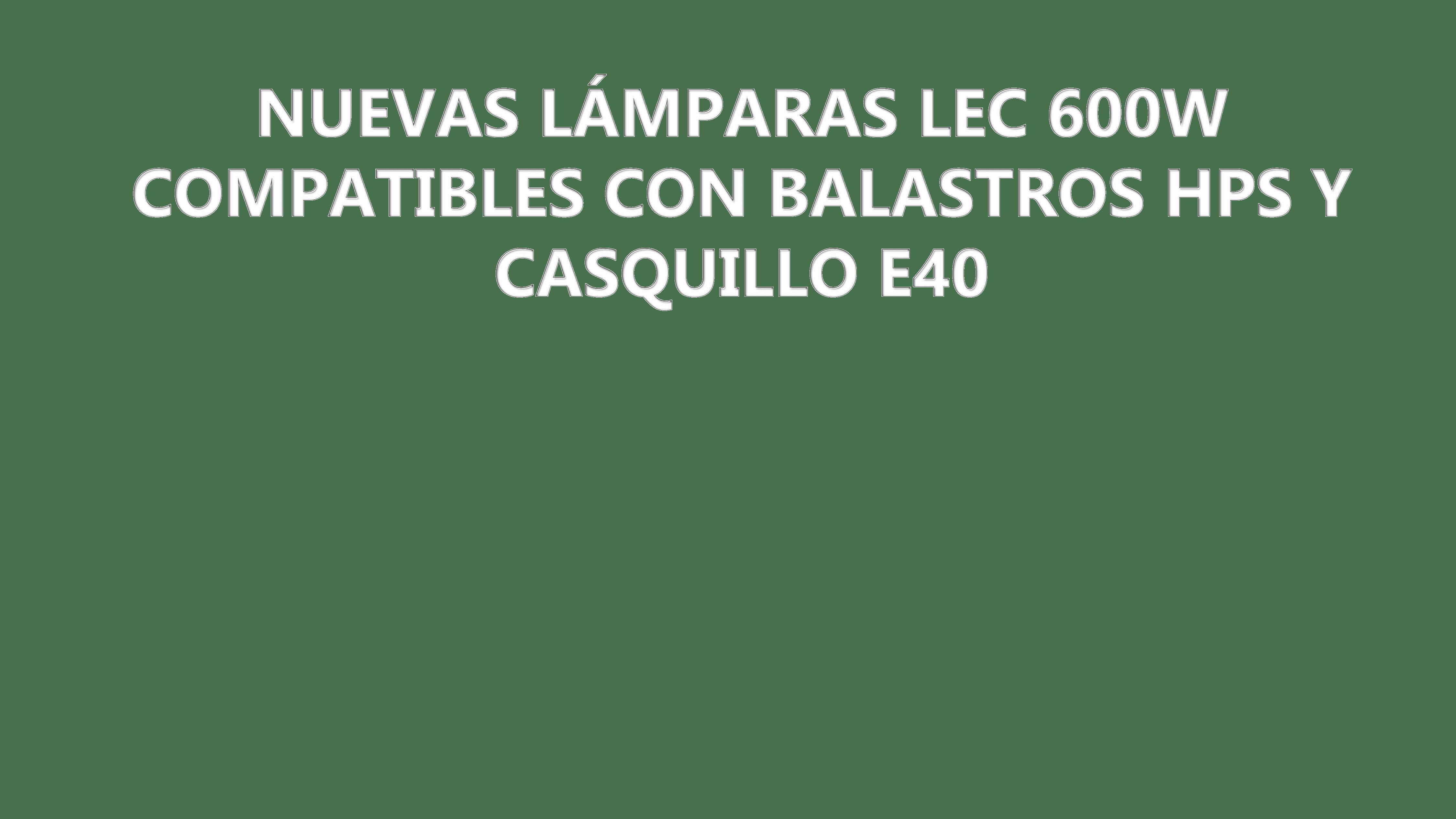 Bombillas LEC/CMH 600W